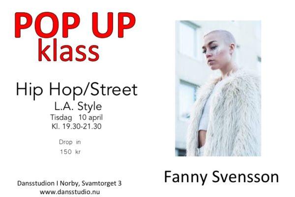 POP UP Hip hop med Fanny Svensson